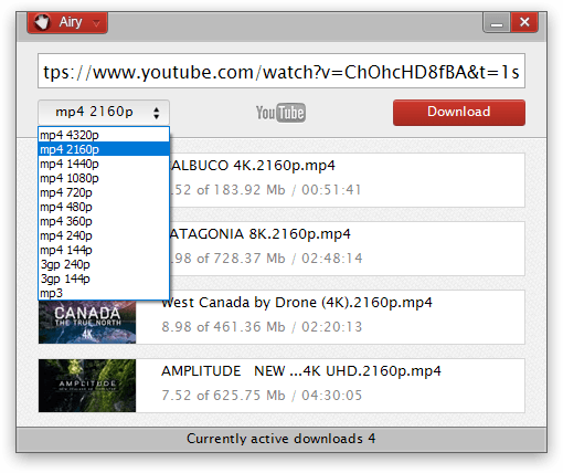 Airy - YouTube Video Downloader For PC