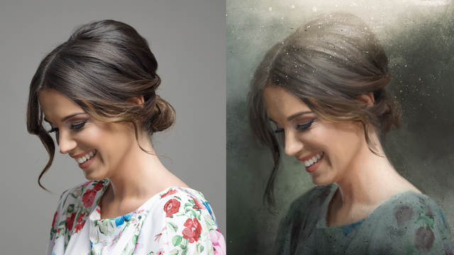 Oil painting filter: Ways of applying it to an image in Photoshop