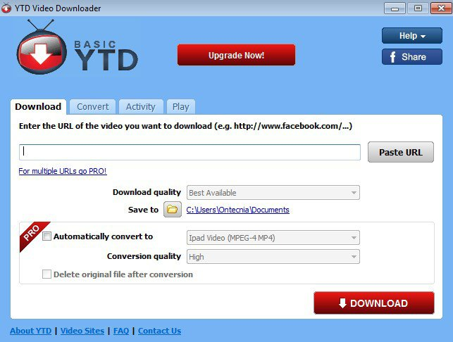 YTD Video Downloader - YouTube Video Downloader For PC