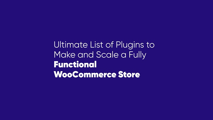 ultimate list of plugins to make and scale a fully functional woocommerce store